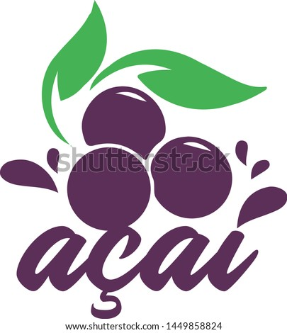 Logo Acai Brazilian Fruit Amazon Brazil