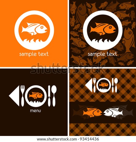 logo and background for fish