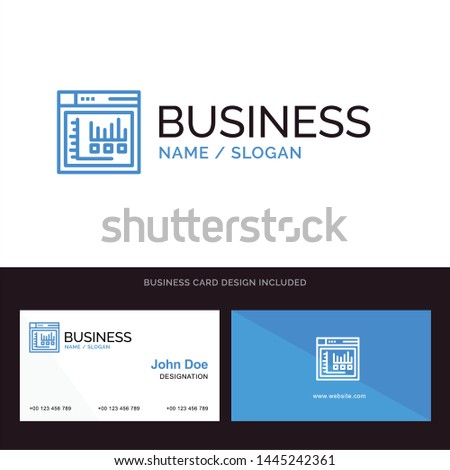 Logo and Business Card Template for Browser, Internet, Web, Static vector illustration