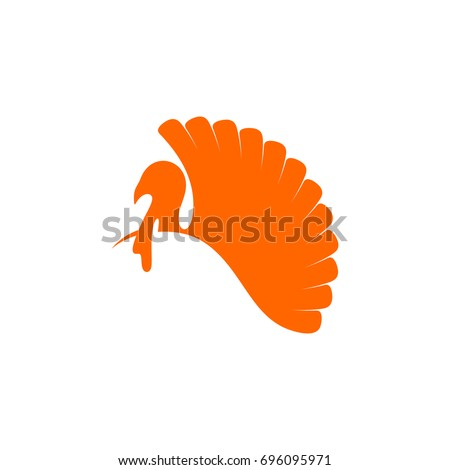 Logo and symbol of a turkey for Thanksgiving.