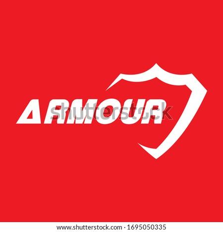 logo armour a vector design icon  Stock photo ©