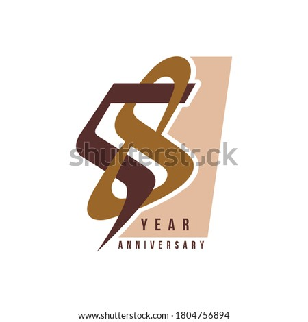 logo arrangement of number 58 which is creative, simple, authoritative and easy to understand Zdjęcia stock ©