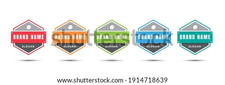 Logo badge icon for certified, product, online, food, culinary, shop, etc. Vector illustration design template.