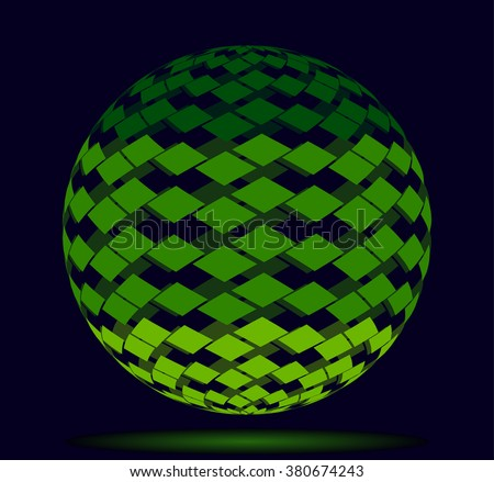 logo ball of the green square