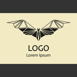 LOGO Bat icon. Bat symbol. Bats icon isolated. Vector illustration