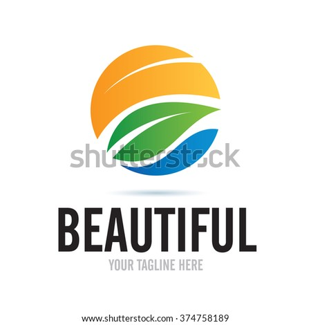 logo beautiful nature icon