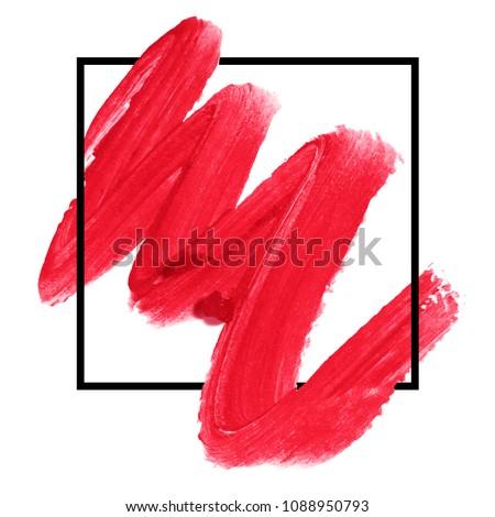 logo brush paint texture design