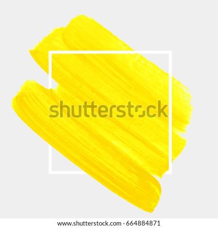 logo brush painted acrylic