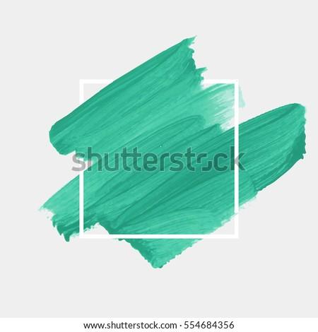 logo brush painted watercolor