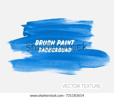Logo brush painted watercolor background. Art abstract brush paint texture design acrylic stroke poster vector illustration. Perfect design for headline, logo and sale banner.