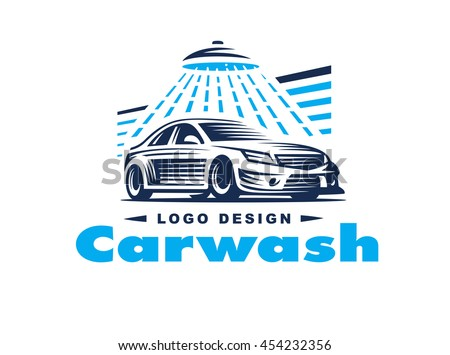 Vector Images Illustrations And Cliparts Logo Car Wash On Light