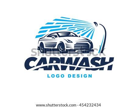 Shutterstock Logo car wash on light background.