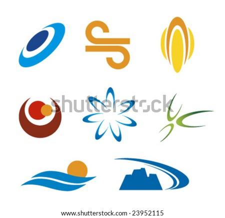Logo company set