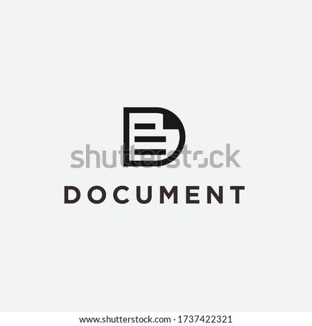 logo D doc. document icon Zdjęcia stock ©