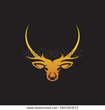 logo deer head vector download