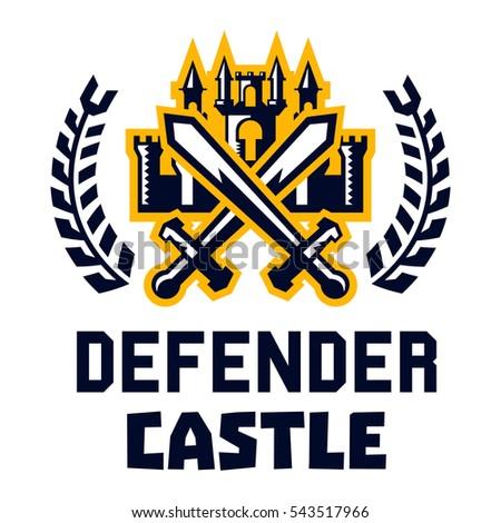 logo defender castle fortress