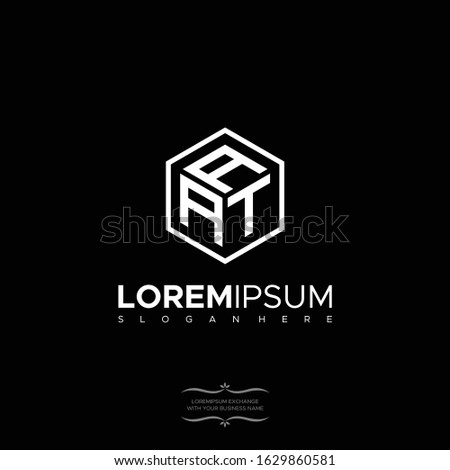 logo design AAT for companies from the initial letters of the AAT logo icon. Stok fotoğraf ©