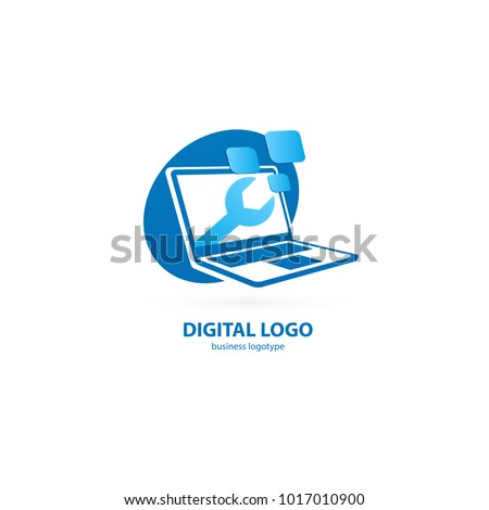 logo design abstract computer