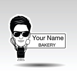 Logo design., Boy bakery design.