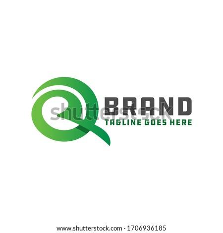 logo design branding letter R Foto stock ©