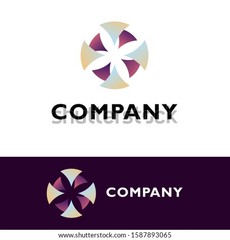 logo design company. gradient combination logo. logo design for general business. great for anykind of technologies companies