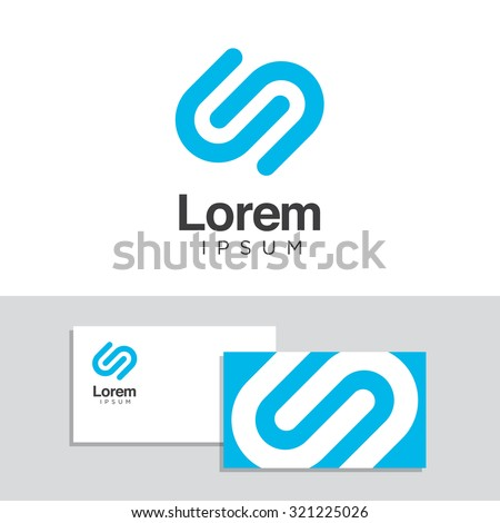 Logo design elements with business card template. Vector graphic design elements for your company logo.