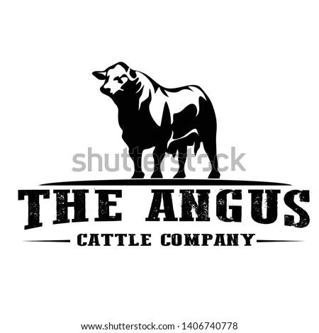 logo design for angus cattle farm design