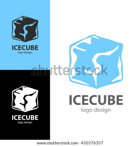 Logo design Ice cube, vector EPS10