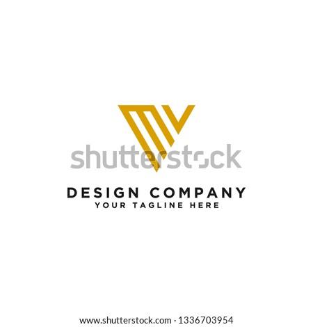 logo design, Initials MV. - Vector Stock fotó ©