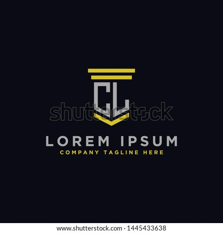 logo design inspiration for companies from the initial letters of the CL logo icon. -Vector Stock fotó ©