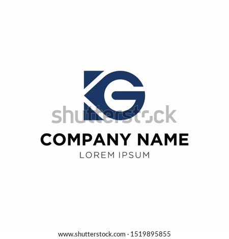 Logo design   KG icon. vector.