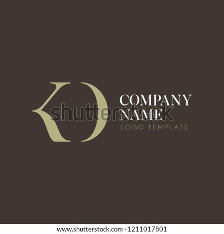 Logo design letter K N D Stock fotó ©