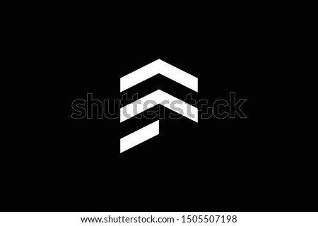 Logo design of F EF FE in vector for construction, home, real estate, building, property. Minimal awesome trendy professional logo design template on black background. Stok fotoğraf ©