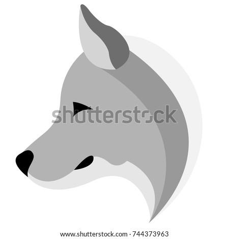 logo design of the husky logo