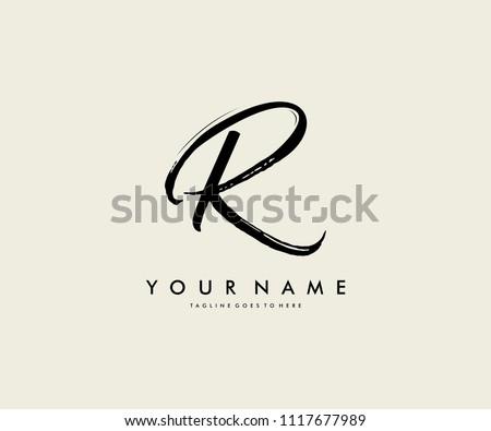 Logo Design R Letter Stock fotó ©