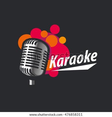 logo design template for karaoke. Vector illustration of icon