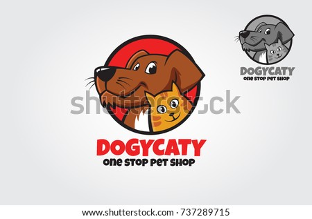 Logo design template made on Animals or pets theme with simple contents. Unique cartoon design for blog, pet hotel, pet shop, veterinary clinic or other animals related website or product
