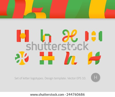 Colorful abstract logo with letter h download free vector art stylized letter h thecheapjerseys