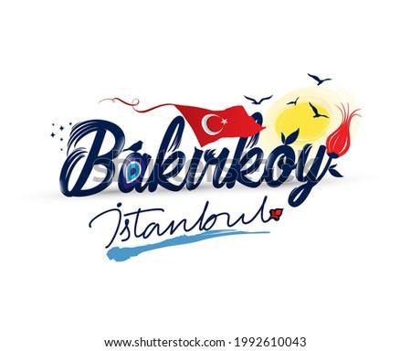 Logo design with 'bakirkoy istanbul' text Stok fotoğraf ©