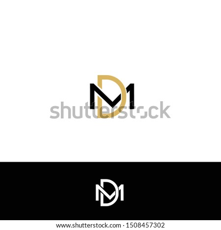LOGO DESIGN WITH LETTER M & D Stok fotoğraf ©