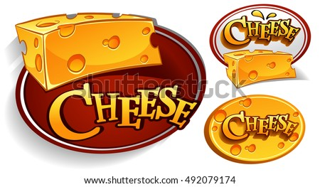 Logo designs with cheese illustration
