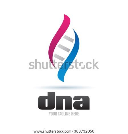 Logo DNA Icon Element Template Design Logos