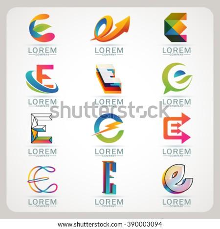 Letter E Logo Designs Speedart  10 in 1  A  Z Ep 5