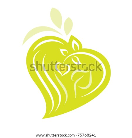Logo - Eco Heart Shaped plants
