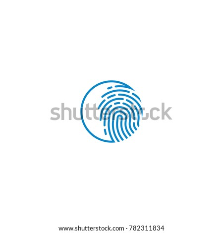 logo finger print abstract