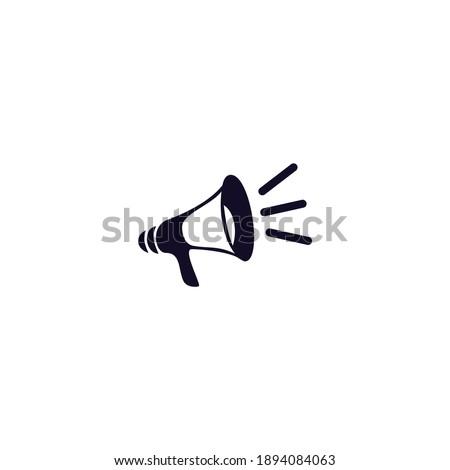 logo flat icon of a speaker Сток-фото ©