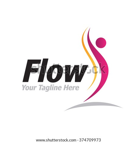 Logo Flow Man Icon Element Template Design Logos
