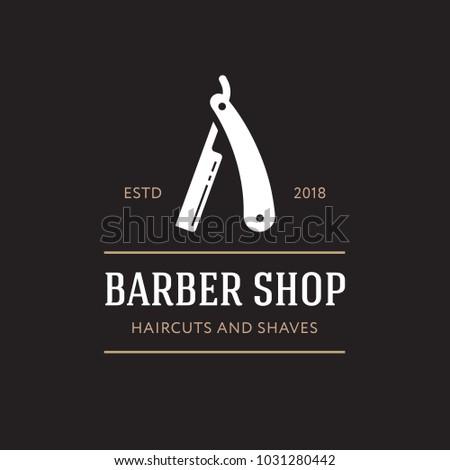 logo for barbershop  hair salon