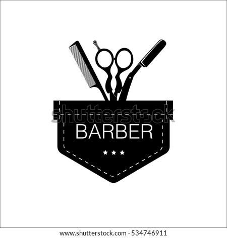 logo for barbershop  hair salon ...