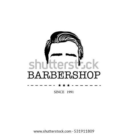 logo for barbershop  hair salon